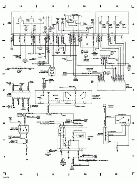 Tach Wire Diagram by 1989 Mustang Dash Wiring Diagram