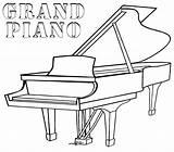 Piano Coloring Grand Pages Printable Drawing Keys Cartoon Games Template Play Guitar Tuba Coloringgames Plan Floor Sketch Coloringonly Getdrawings Categories sketch template