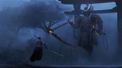 Samurai 4k Wallpapers Fantasy Last Lesson Assault