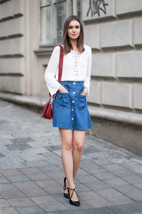 Denim skirt u2013 Fashion Agony   Daily outfits fashion trends and inspiration   Fashion blog by ...