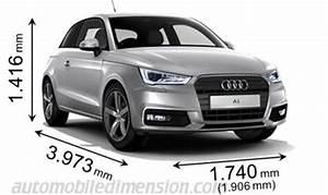 Volume Coffre A3 Sportback : dimensions des voitures audi longueur x largeur x hauteur ~ Medecine-chirurgie-esthetiques.com Avis de Voitures