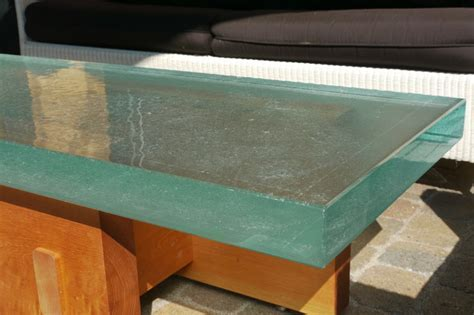 Thick Outside Glass Table   Modern   Coffee Tables
