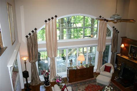 great curtain window treatment for large arched