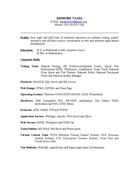sle resume summary statements about experience resume
