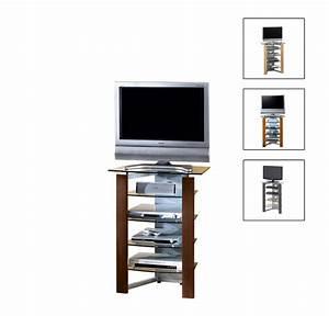 Télé 110 Cm : meuble tv haut en verre ~ Teatrodelosmanantiales.com Idées de Décoration