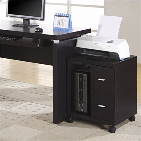 stand alone desk drawers monarch specialties 2 drawer computer stand on castors