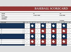 Baseball Scorecard Template My Excel Templates