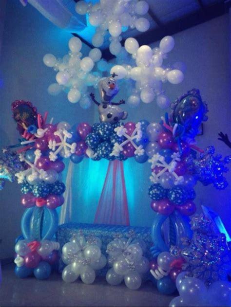 decoracion  globos frozen   decoracion