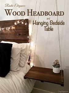 Rustic & Elegant Headboard with Floating Side Table ...  Rustic