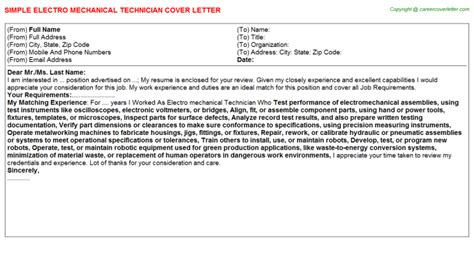 Cover Letter For It Technician - Costumepartyrun