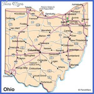 Ohio State Map with Cities
