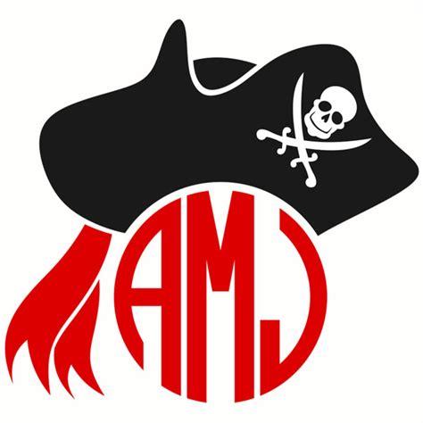pirate monogram frame svg cuttable designs