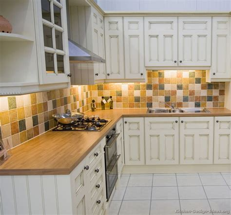 kitchen backsplashes with white cabinets pictures of kitchens traditional white antique