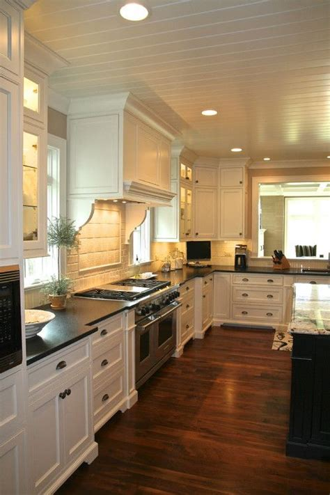 30 Spectacular White Kitchens With Dark Wood Floors  Home