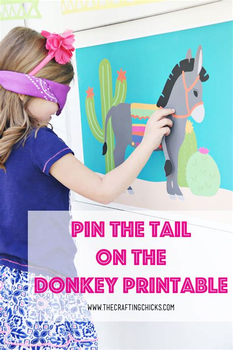 pin  tail   donkey  crafting chicks