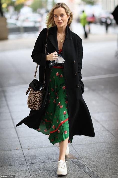 Laura Whitmore cuts a stylish figure in a green midi dress ...