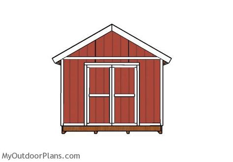 12 X 24 Gable Shed Plans by 12x24 Shed Doors Plans Myoutdoorplans Free Woodworking