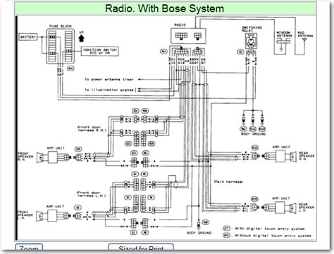 2001 Nissan Radio Wiring Harnes Diagram by Wiring Diagram For A 1992 Nissan Maxima Bose Stereo Factory