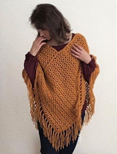 crochet poncho pattern  women fast easy crochet