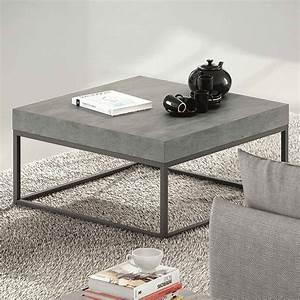 Table Basse En Beton : table basse avec plateau effet b ton ~ Teatrodelosmanantiales.com Idées de Décoration