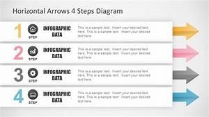 Horizontal Arrows 4 Steps Diagram