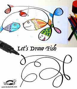 krokotak Let's Draw Fish