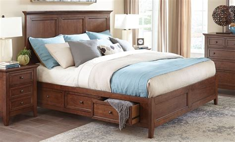 tuscan finish king storage bed bedroom