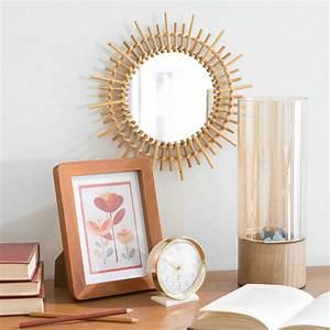 Miroir Fenetre Maison Du Monde : miroir rond en bambou d 30 cm marapong maisons du monde ~ Teatrodelosmanantiales.com Idées de Décoration