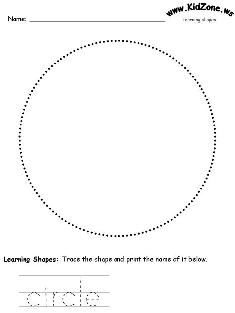 Circle Tracing Worksheet Worksheets For All  Download And Share Worksheets  Free On