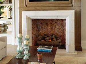 Simple, Stone, Fireplace, Surround, Would, Do, With, Slate, Gray, Firebrick, Exquisite, Surfaces