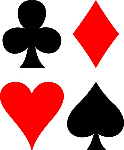 playing card suit symbols png png mart