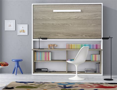 lit armoire bureau armoire lit spacio avec bureau couchage 90 190 20 cm