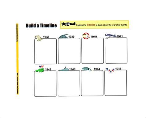 sample blank timeline templates sample templates