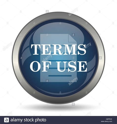 terms of use terms of use icon button on white background