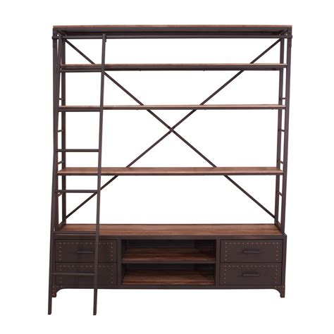 Ladder Etagere by Acme Furniture Actaki Gray Etagere Bookcase With