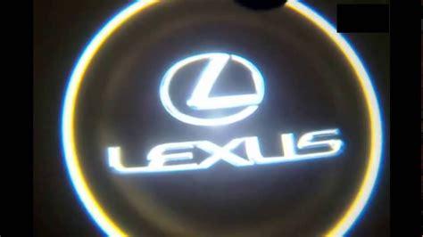 install lexus door  logo light youtube