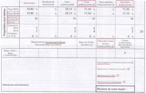 chambre agriculture 06 l 39 avis de taxe foncière des biens non bâtis