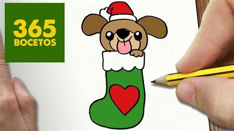 como dibujar  perrito  navidad paso  paso dibujos kawaii navidenos   draw  dog
