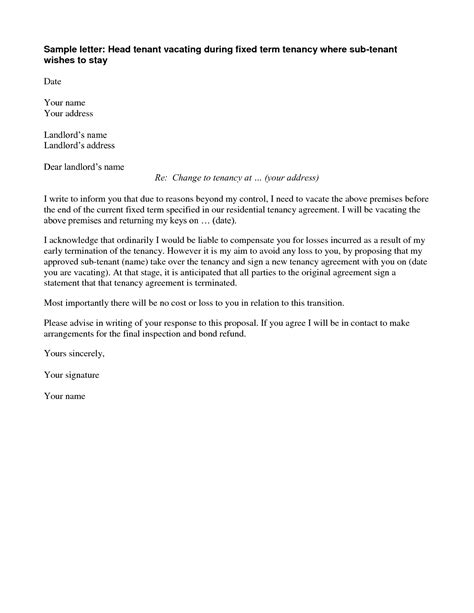 lease agreement letters agreement termination letter this contract termination