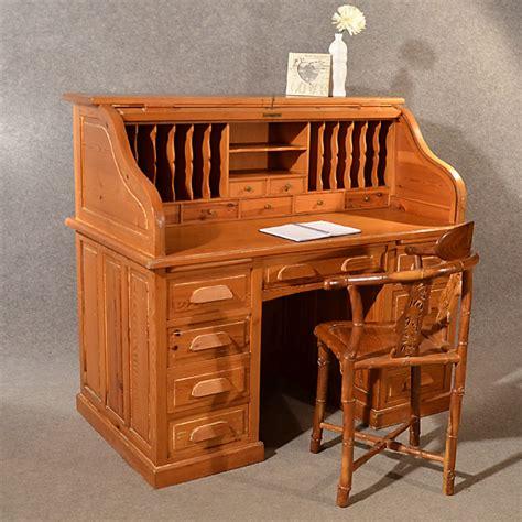 top bureau antique rolltop bureau pine roll top tambour desk large
