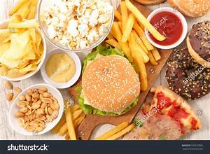 Selection Junk Food Stock Photo 535637899 - Shutterstock