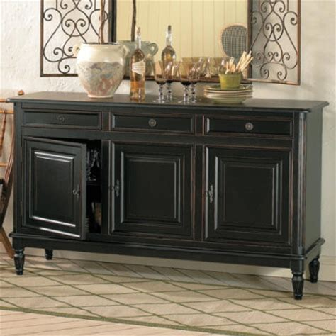 Black Sideboards And Buffets by Dehaviland 3 Drawer Console Traditional Buffets And