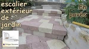 Escalier Beton Exterieur Coffrage by How To Build Steps With Pavers In A Garden 1 Trailer