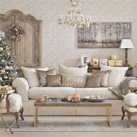 Taupe Living Room Decorating Ideas by Gold Christmas Living Room Christmas Living Rooms Gold
