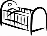 Crib Drawing Coloring Cot Clipart Bed Cartoon Sketch Sheet Template Sewing Job Templates Screaming sketch template