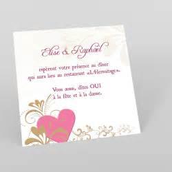 carte d invitation mariage modele de carte d 39 invitation mariage exemple et idée de invitation certitude réf a62l