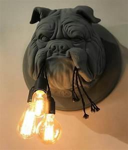 Unusual English Bulldog Wall Light