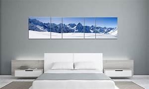 Leinwand 5 Teilig : snowy mountain winter panorama 5 bilder p500039 xxl leinwand die leinwandfabrik ~ Whattoseeinmadrid.com Haus und Dekorationen