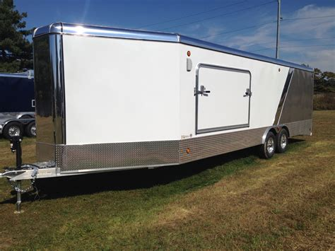 enclosed trailer r door conversion aluminum car hauler vech series enclosed rnr trailers