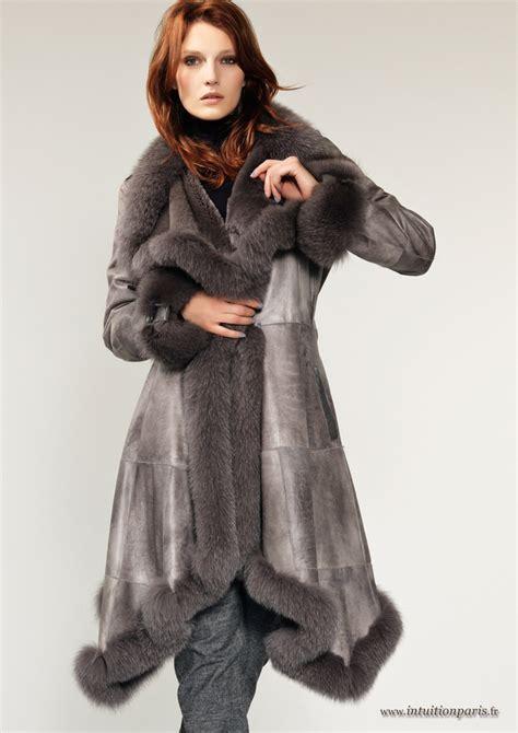 ensemble femme pour mariage manteaux en cuir et en fourrure collection automne hiver 2012 2013 mode prêt à porter féminin à